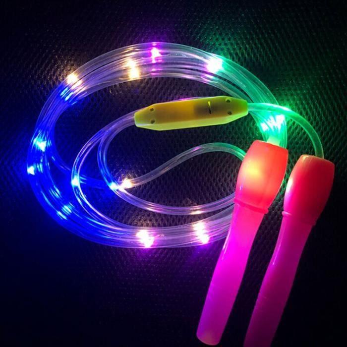 Éclairer les cordes à sauter Led sauter couleur aléatoire enfants enfants unique corps lumineux exercice F - HSJSTSA10786