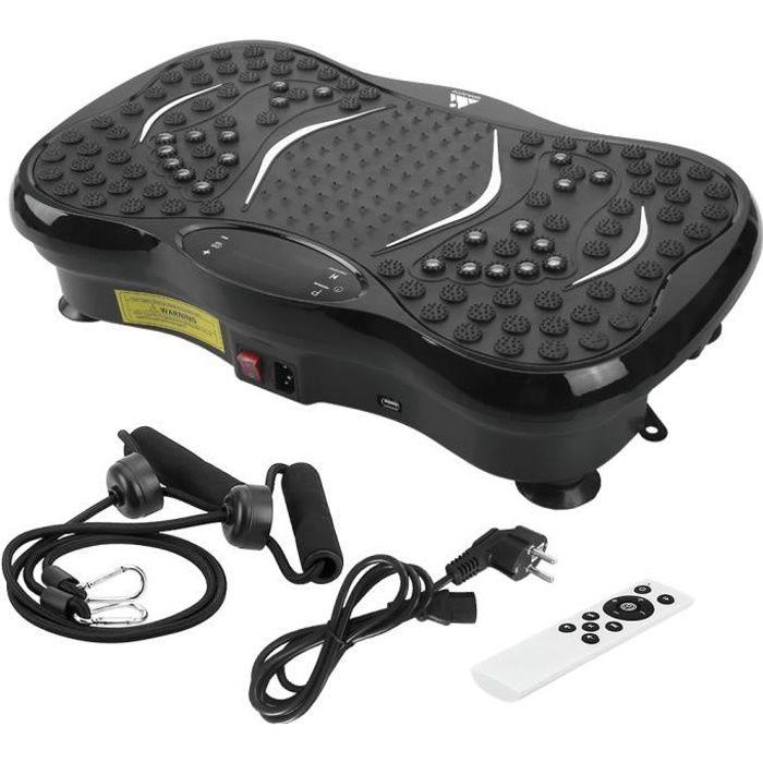 EVOLAND Vibration Machine Plate-forme Fitness Body avec Bluetooth avec la corde de traction de bande de musique