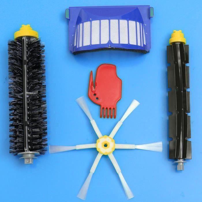 Kit Filtre + Brosse Latérale Pr iRobot Roomba 600 Series 620 630 650 660 Vacuum Ma07142