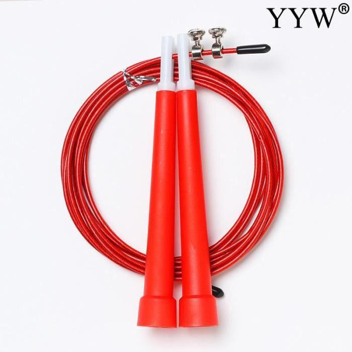 Accessoires Fitness - Musculation,Jumprope corde à sauter réglable en Nylon corde à sauter vitesse corde à sauter - Type red