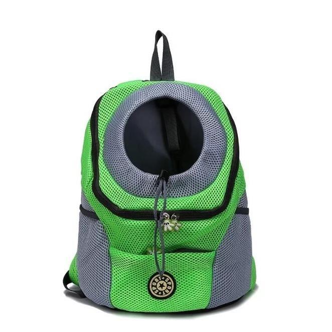 Sac de transport,1 pièces chiot chaton en plein air sac à dos poitrine sac respirant maille animaux sortie - Type Green-S
