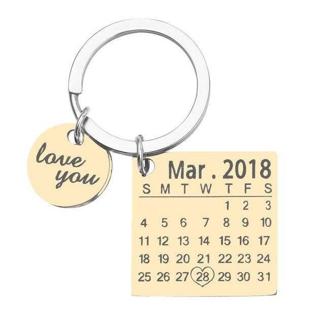 Porte clés porte clés de calendrier personnalisé de nouveau Style, porte clés de nom personnalisé, porte clés *ES20916