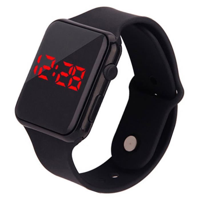 Montre Digital d'écran tactile de silicone de montre-bracelet de sport LED de mode