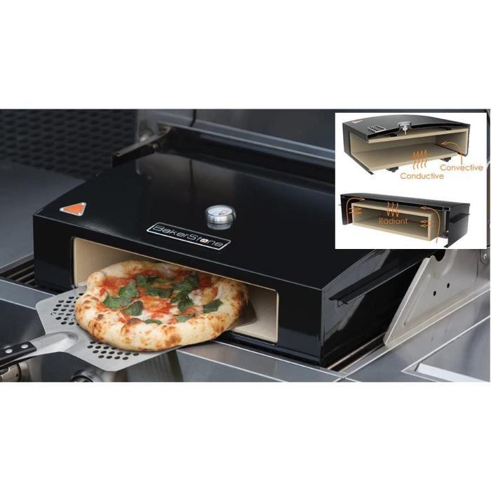 Fours à pizza extérieurs Bakerstone Four à pizza pour barbecue à gaz avec pierre de cuisson en céramique 36 cm 96105