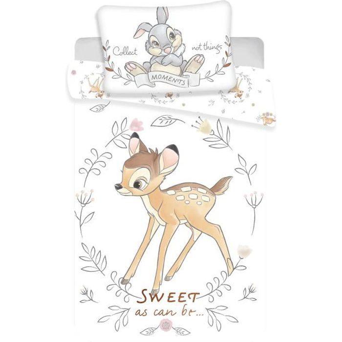 Parure de lit bébé Bambi Disney coton