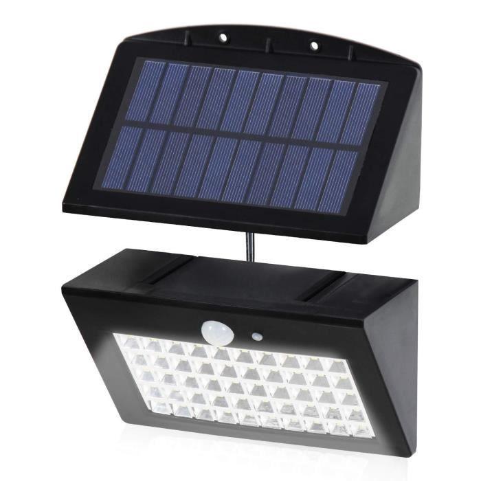 T-SUN Lampe Solaire, [Séparable Panneau Solaire] 50 LED Lumière Détecteur de Mouvement Luminaire Extérieur/Intérieur Étanche Pour