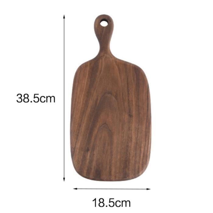 Planche à découper,Planches à découper bois massif planche à découper noyer noir planche à Pizza bois entier - Type 38.5x18.5cm
