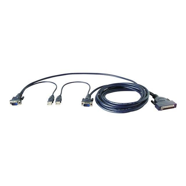 BELKIN câble KVM OmniView Dual-Port VGA & USB 1.8m