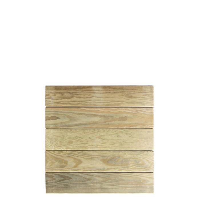 Dalle de terrasse en bois traitement autoclave classe IV - Epaisseur 44mm- 500x500 mm- AMELIA