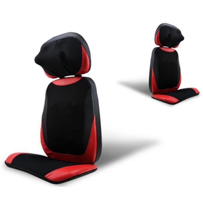 HIGH-TECH & BIEN-ETRE®APPAREIL DE MASSAGE fauteuil siege massant chauffant démontable multifonction pour le dos et le cou