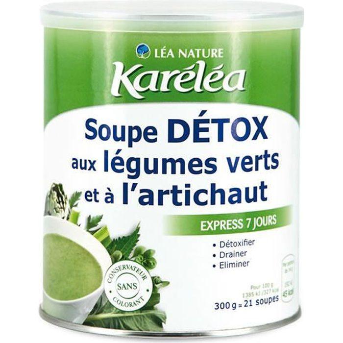 KARELEA Soupe détox aux légumes verts et à l'artichaut - 300g
