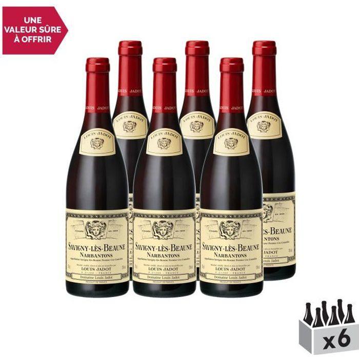 Savigny-lès-Beaune 1er Cru Les Narbantons Rouge 2014 - Lot de 6x75cl - Louis Jadot - Vin AOC Rouge de Bourgogne - Cépage Pinot Noir
