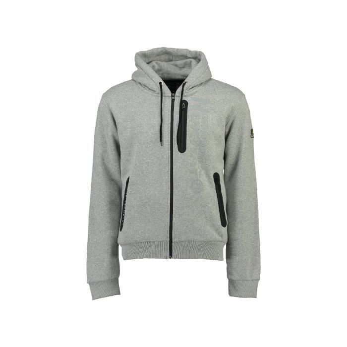 Sweat à capuche Enfant Geographical Norway Fascarade Gris