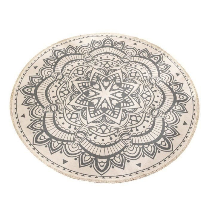 Salon Table basse Tapis de sol imprimé Tapis de sol Chambre à coucher Etudier rond tapis,UB1000A6