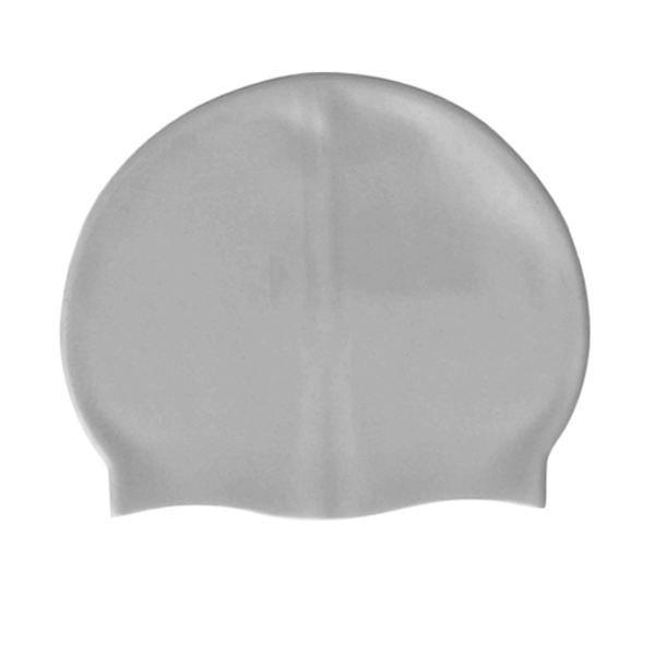 Bonnet de bain en silicone argent de taille unique