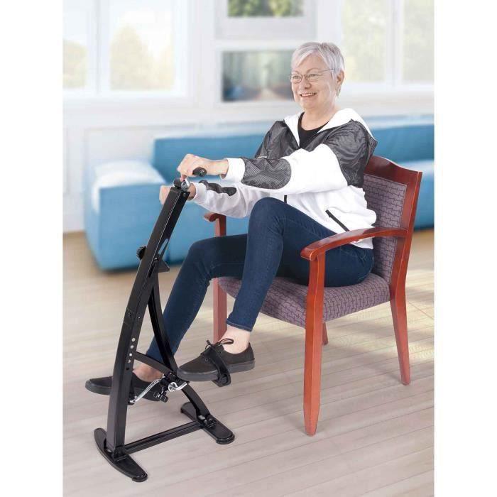 Vélo d'appartement double pédalier Jambes et bras avec compteur électronique