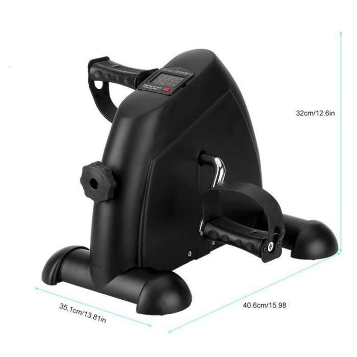 WS30070-Mbuynow Noir Mini Vélo d'Appartement, Mini Vélo d'exercice Cardio à Pédale Écran LCD Réglable