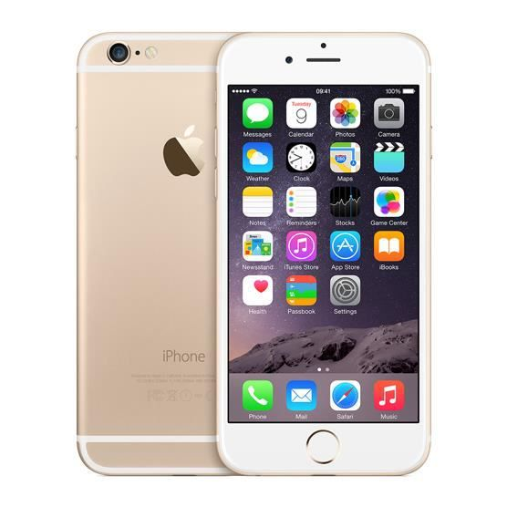 SMARTPHONE RECOND. IPHONE 6 16G GOLD Grade A . Accessoires fournis. G
