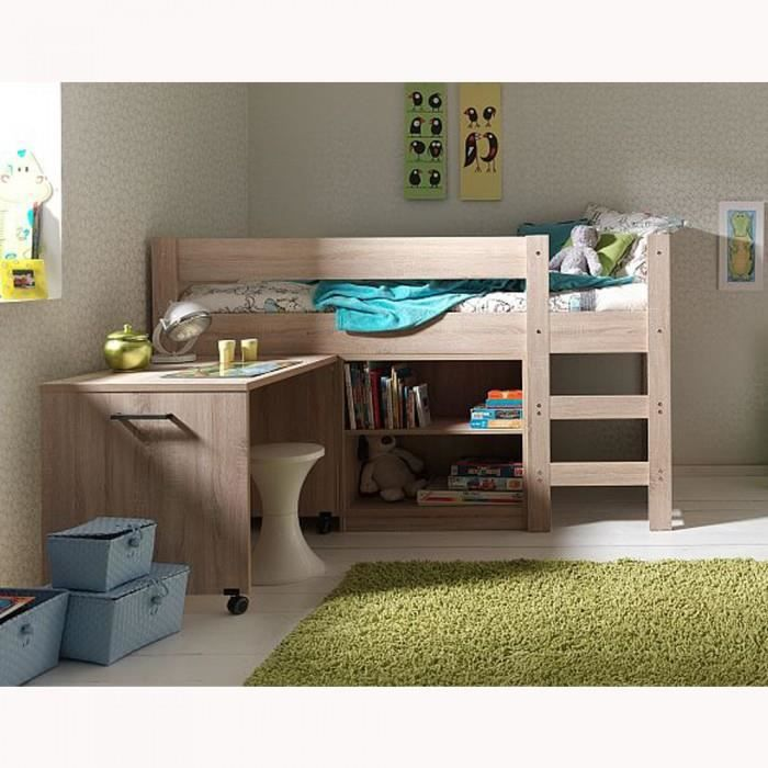 lit mezzanine enfant aline mati re mdf couleur achat. Black Bedroom Furniture Sets. Home Design Ideas
