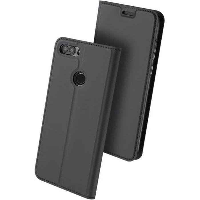 Coque Huawei P smart (2018), Housse Etui en Cuir P