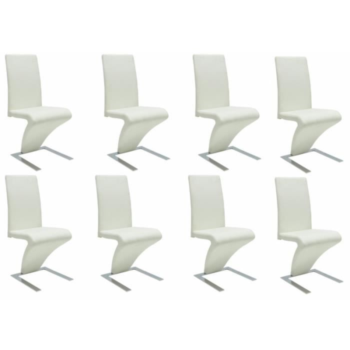 8 chaises de salle a manger blanches 1902316 achat. Black Bedroom Furniture Sets. Home Design Ideas