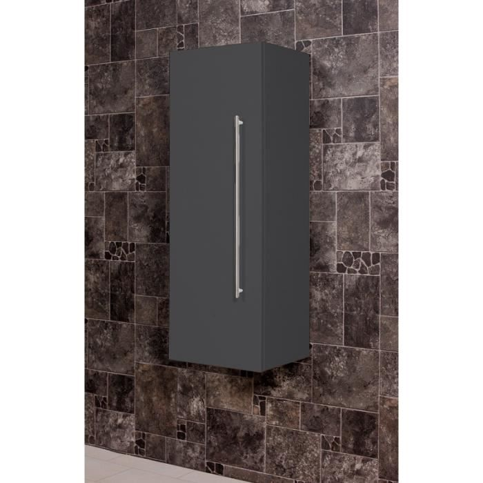 armoire haute 100 cm anthracite aspect affin achat. Black Bedroom Furniture Sets. Home Design Ideas