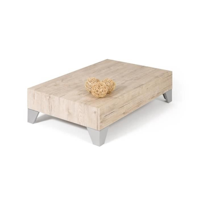 Table Basse Ch Ne Naturel Evolution 90 Achat Vente