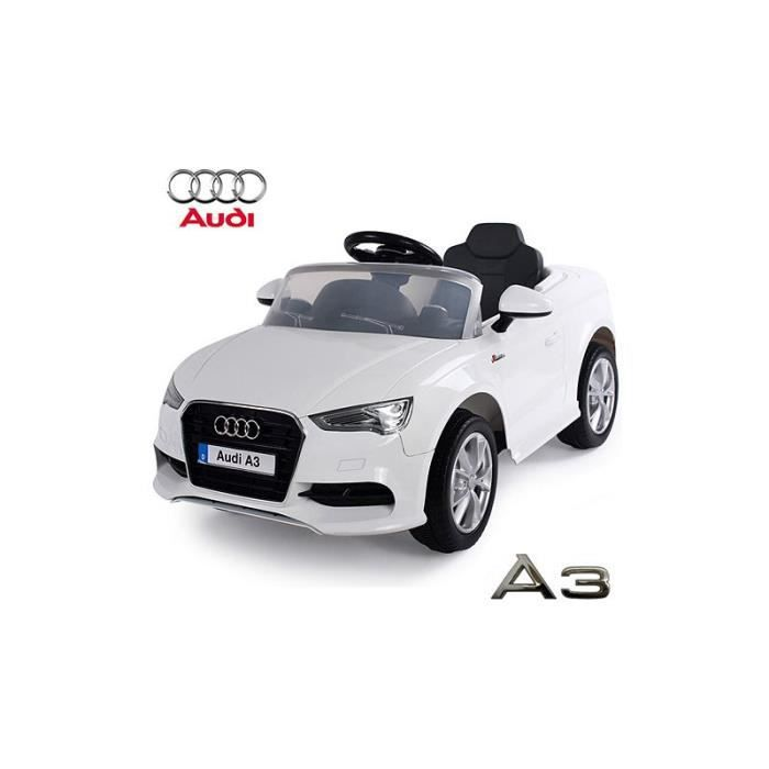 audi a3 voiture lectrique enfant blanc 12 volts 2 moteurs achat vente voiture enfant. Black Bedroom Furniture Sets. Home Design Ideas