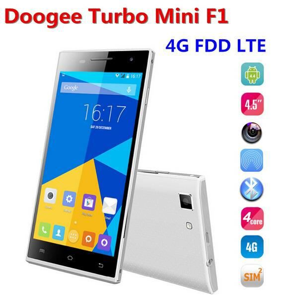t l phonie mobile 4g lte 4 5 pouces doogee turbo mini f1 4g 1g ram 8 octies blanc. Black Bedroom Furniture Sets. Home Design Ideas