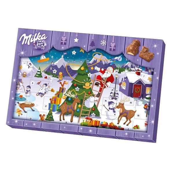 milka calendrier de l 39 avent chocolat 200g diff rents motifs achat vente calendrier de l. Black Bedroom Furniture Sets. Home Design Ideas