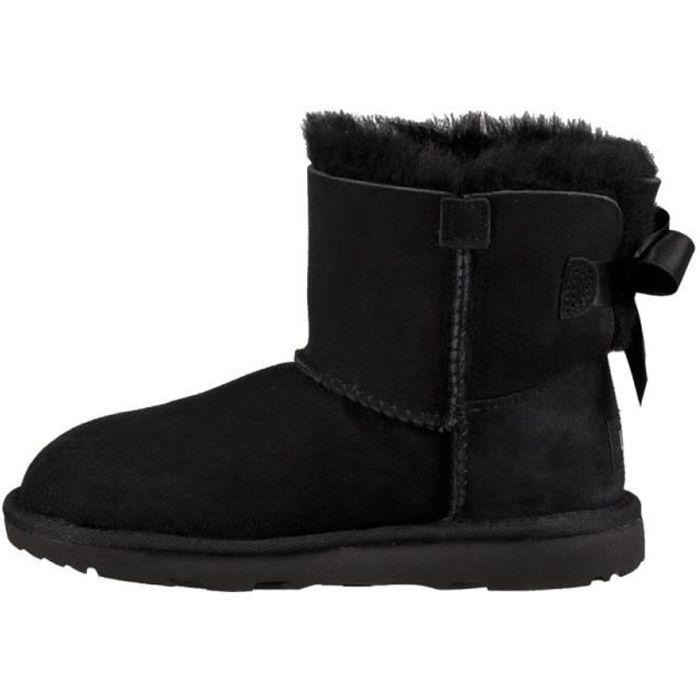 Botte UGG Mini Bailey Bow 2 Grand Enfant (Noir) 1ab4b7971ef9