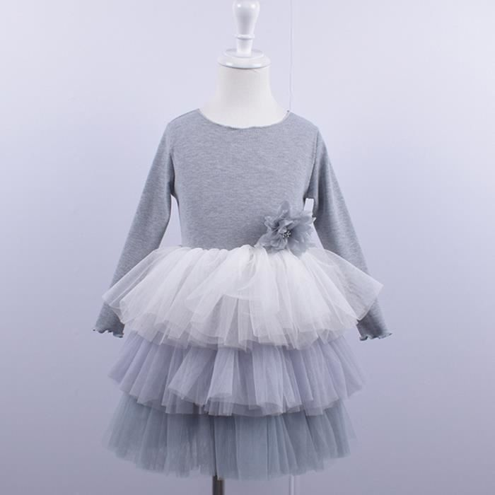 Toddler Infant Baby filles enfants Cœur Imprimer Tutu Robes Vêtements Princesse Robe
