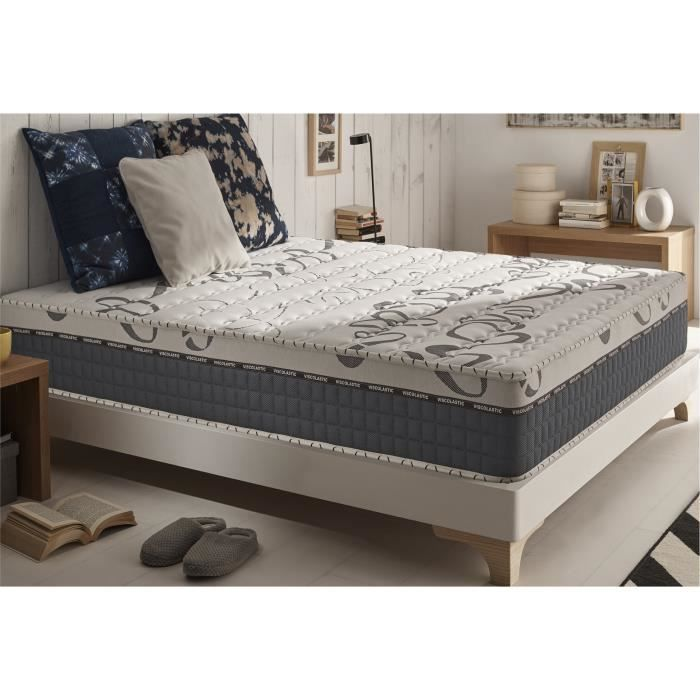 matelas m moire de forme top memory 160x200 cm en blue latex 25 cm de natural. Black Bedroom Furniture Sets. Home Design Ideas