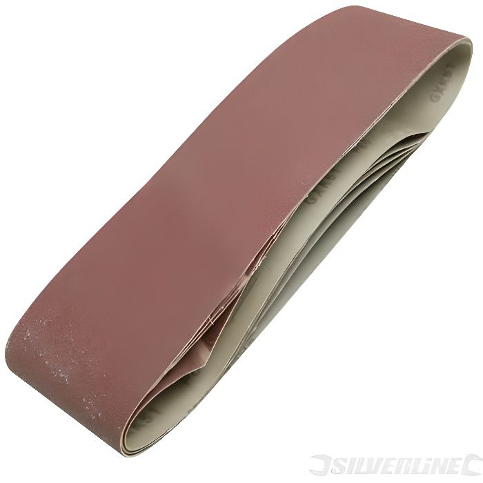 Lot de 5 bandes abrasives 100 x 915 en grain 180 Pour ponceuse /à bande
