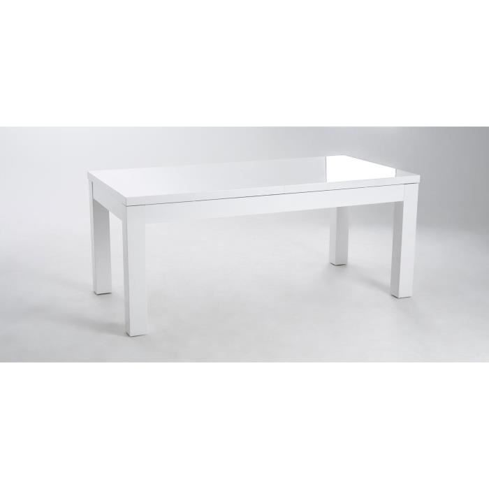 ashlow table manger extensible 8 10 personnes 180 256x76 cm laqu blanc brillant achat. Black Bedroom Furniture Sets. Home Design Ideas