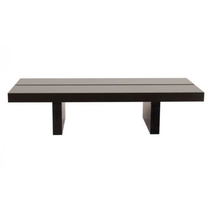 Table basse rectangulaire tokyo 150x62 teintee wenge - Table rectangulaire wenge ...