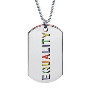Acier Inoxydable Arc-en-égalité Pride Fierté Fille Collier Pendentif Bijoux Hot