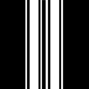 2 x fines rayures design 1 autocollant graphique vinyle autocollant