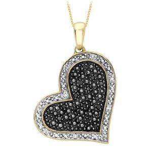 1//4 Ct Diamant Noir Mouton Pendentif en argent sterling