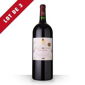 VIN ROUGE 3X Château de Coudot 2014 Rouge 150cl AOC Haut-Méd