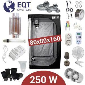 KIT DE CULTURE Pack Tente 250W 80x80 - ETI + Supacrop