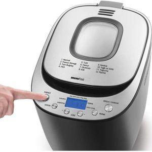 40,7 x 28,2 x 29,9 cm blanc puissance 600 W anti-adh/ésive HOMCOM Machine /à pain 12 programmes minuteur 13 heures et 1 heure maintien de la chaleur