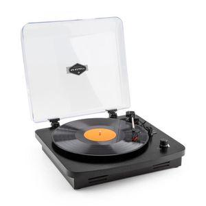 PLATINE VINYLE auna TT370 Tourne-disque platine vinyle rétro avec