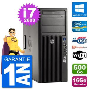 ORDI BUREAU RECONDITIONNÉ PC Tour HP Z210 Intel Core i7-2600 RAM 16Go Disque