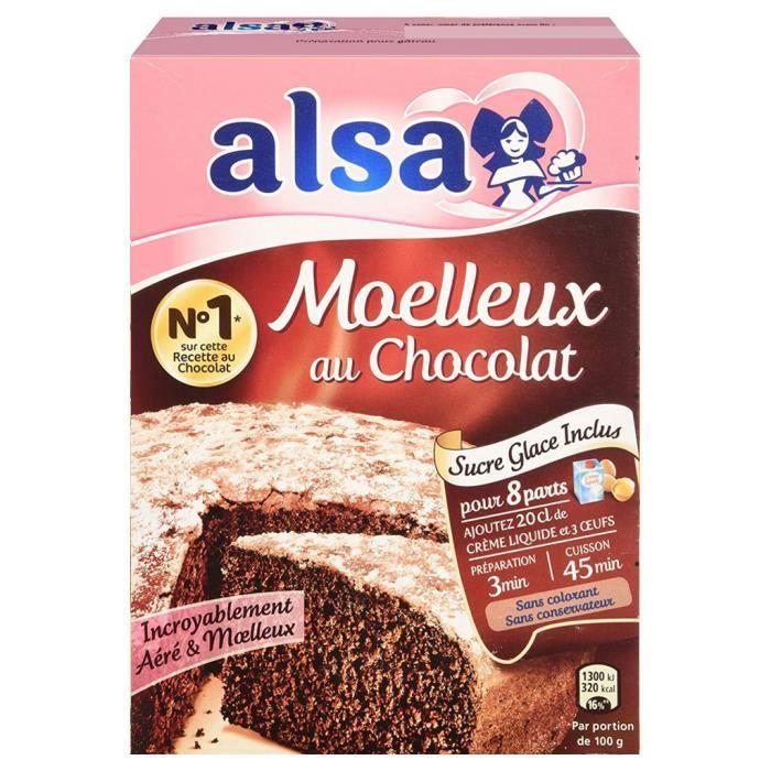 Alsa Préparation Gâteau Moelleux Chocolat (lot de 2)