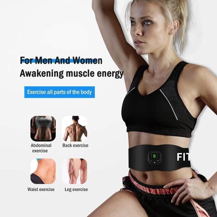 Ceinture abdominale EMS, stimulateur musculaire électrique, équipement de Fitness, Vibration, perte de poids