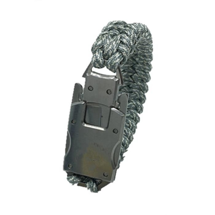 Bracelet de survie en plein air avec corde d'urgence Bracelet multifonction d'engrenage d'outils tactiques pour Camping randonnée -