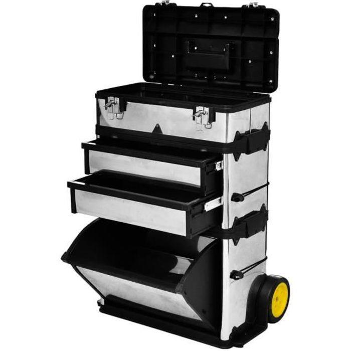SIB Caisse valise coffre boîte à outils à roulette