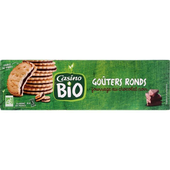 CASINO Goûters fourrés cacao maigre Noir Bio - 185G