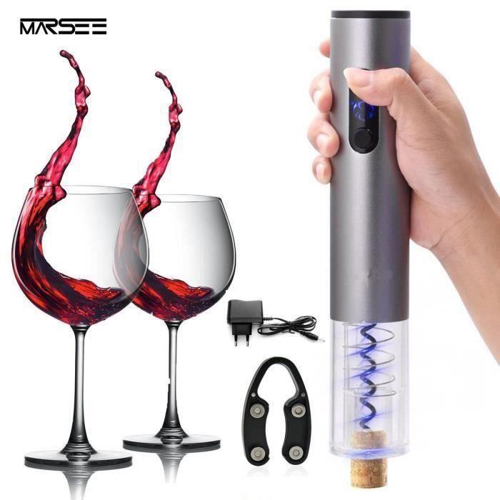 10 PCS Tire Bouchon électrique pour vin décapsuleur rechargeable ouvre bouteille avec Coupe feuille pour vin Champagne